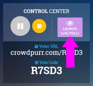Launch Poll Button